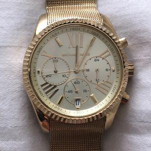 Michael Kors Women's Gold Mesh Bracelet Watch